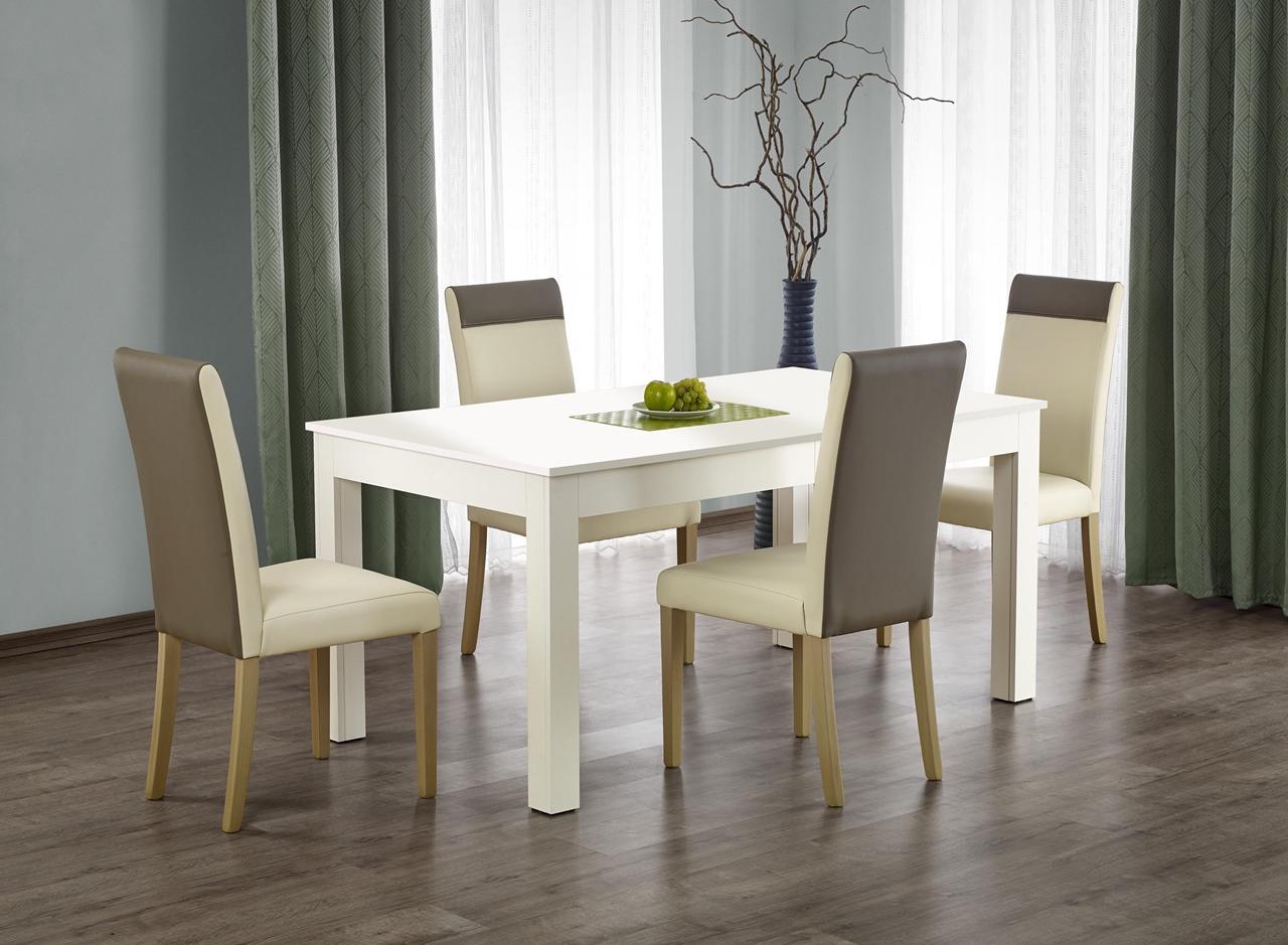 MALYS-GROUP Rozkládací jídelní stůl SEWERYN 160x90 bílý
