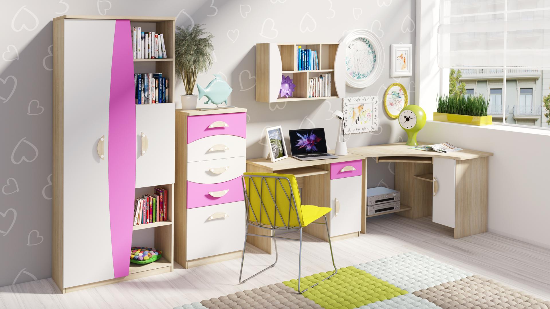 MALYS-GROUP Stylový nábytek do dětského pokoje TENUS II Sestava 3