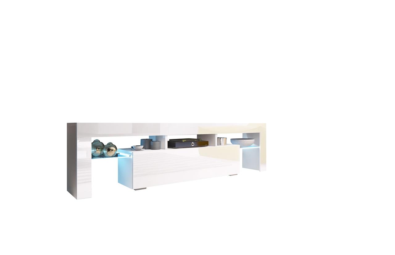 MALYS-GROUP Televizní stolek TORO 158 bílý lesk