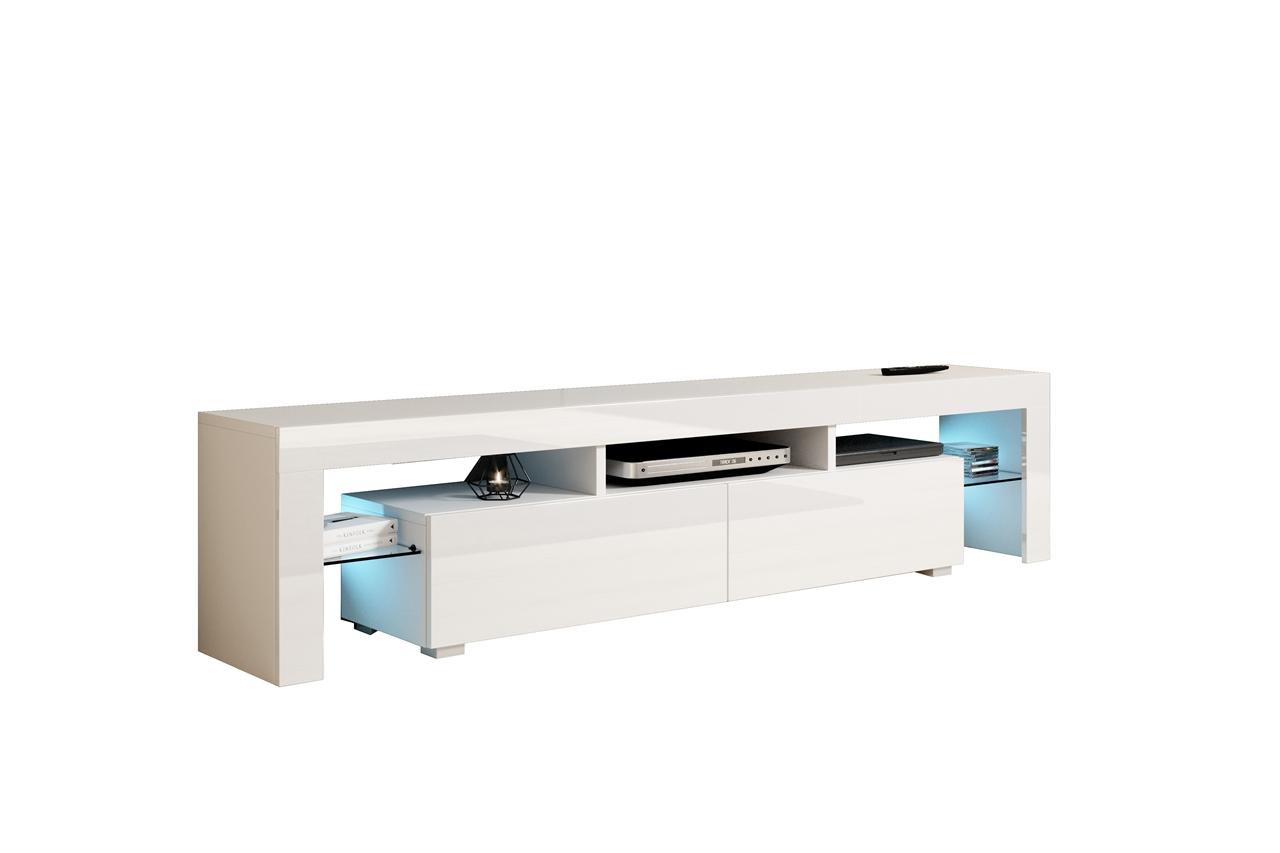 MALYS-GROUP Televizní stolek TORO 200 bílý lesk